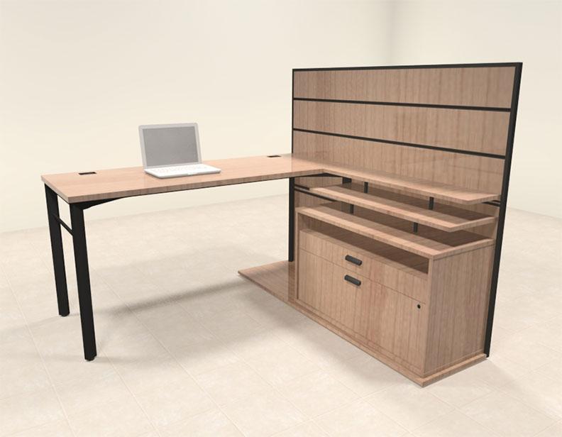 3pc contemporary modern l shaped executive office desk set ba man l3
