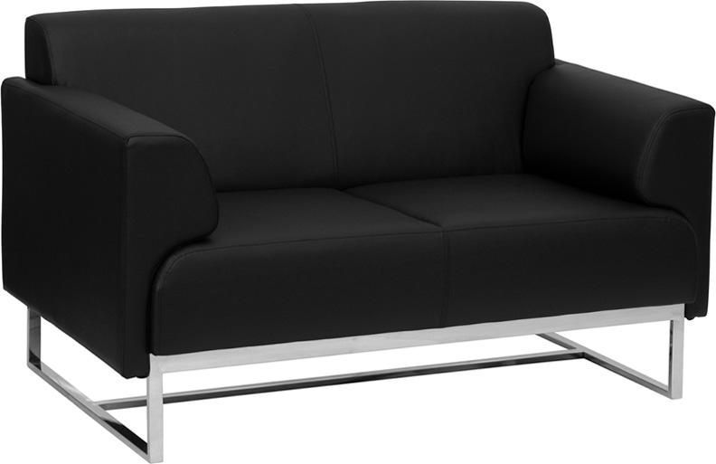 1pc Modern Leather Office Reception Loveseat, FF-0458-12 ...