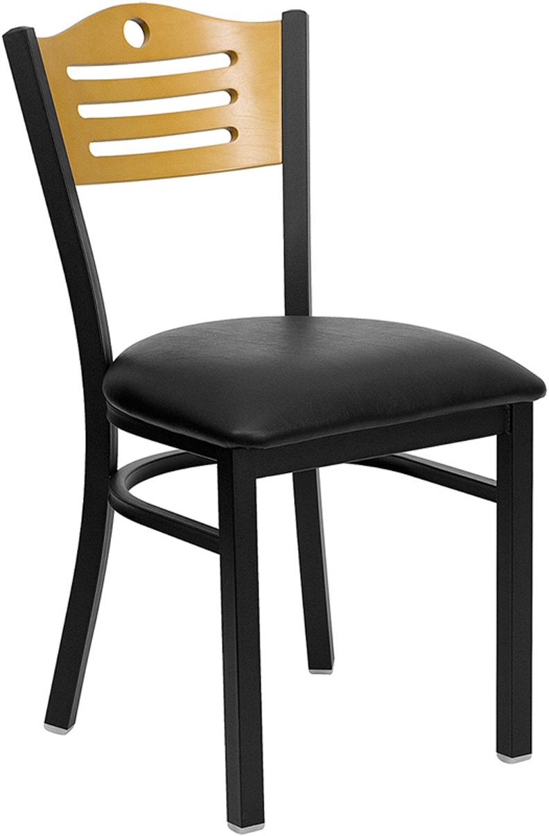 20pc Modern Metal Wood Slat Back Restaurant Dining Chair FF 1274 12 EBay